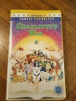 Charlotte's Web VHS Clamshell Case 1973 Debbie Reynolds Paul Lynde Free Shipping
