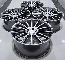 """19"""" S63 AMG STYLE STAGGERED WHEELS RIMS FITS MERCEDES CL CLK CLS E S SL 1241"""