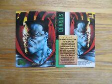 1995 FLEER MARVEL MASTERPIECES MISTER SINISTER CARD SIGNED DAVE DEVRIES ART,POA