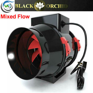 Black Orchid Mixed Flo In Line Ducting Extractor Fan Hydroponics