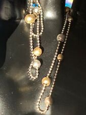 14 Ct K Carat Solid Gold Beaded Necklace