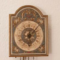 MAYR WU 38 Pendeluhr (Schilderuhr) handgefertigt 23,5 x 18,5 cm Messing Gewichte