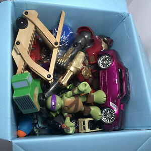 Box Full of Used Ramdom Toys | Mostly Vechicles | Robot | Dinosaurs | Turtles