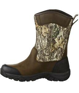 Magellan Outdoor Men's Reload Wellington 2.0 Hunting Boots Leather Camo 11 EE