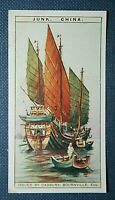 Chinese Sailing Junk    Original 1925 Vintage Colour Card