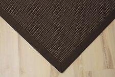 Sisal Teppich Santos mit Bordüre gemustert kaffee 200x250 cm 100% Sisal braun