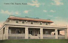 Country Club in Emporia KS Postcard 1914