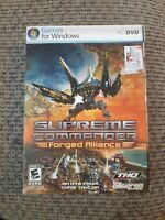 Supreme Commander: Forged Alliance (PC DVD, 2007) Rated E 10+ Windows THQ NIP