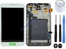 ECRAN LCD VITRE TACTILE SUR CHASSIS POUR SAMSUNG GALAXY NOTE 1 N7000 I9220 BLANC