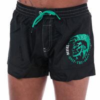 Diesel Mens Polyester BMBX 2.017 Drawstring Swim Shorts in Black