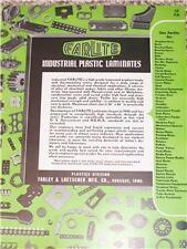 Vtg Farley/Loetscher Farlite Plastics Catalog-Asbestos