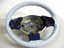 COPRIVOLANTE adatto per FIAT 500 in vera pelle azzurra Made in Italy