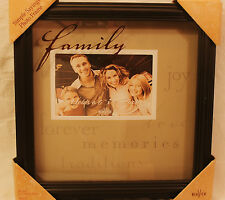Family New View Sentiment Wood Hanging Tabletop 6 x 4 Photo Frame