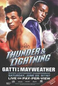 Arturo Gatti vs. Floyd Mayweather Movie POSTER 11 x 17 Boxing, A