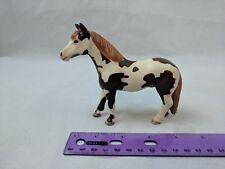"""Safari Ltd Pinto Pony Horse, 4"""" Tall Toy Figurine 2001 White/Brown"""