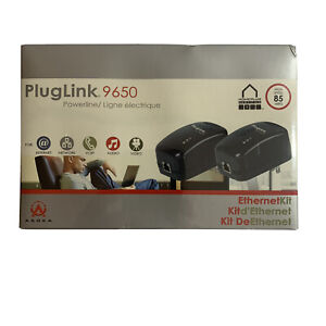 PlugLink by Asoka 9650 Ethernet Adapter Model: PL9650-ETH W/ Cables & Software