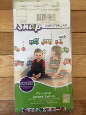 SNAP STOP N GO GLOW IN THE DARK APPLIQUES (40 DECALS) (NEW)