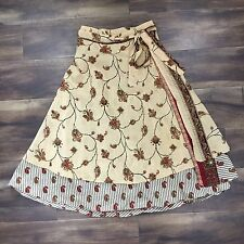 XS/S - Vintage 90's 100% Silk Reversible Wrap Skirt