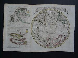 1788 GRAVIUS  Atlas Keizer / De Lat map  SOUTHERN HEMISPHERE - De Zuid Pool