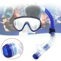 Adult Tempered Glass Diving Mask w/Breathing Snorkel Tube Scuba Snorkeling