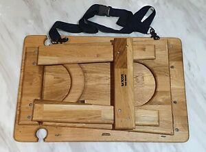 Portable Wooden Picnic Table Wine Cheese Board Folding Tray Outdoor Beach Camp