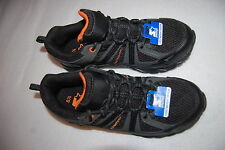 Mens Athletic Shoes BLACK GRAY STARTER Running RUGGED LOOK Mesh & Leather 8.5