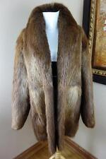 Excellent Mens Medium Beaver Fur Coat Jacket #2649s