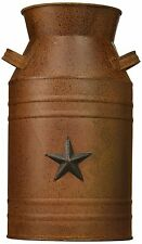 Craft Outlet Milk Can With Star Attached Rust Container 10.5 Inch Decor New