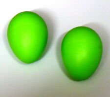2 Green Shakers Sound Rhythm Eggs Kids 35g Percussion FREE UK 1st Class Del