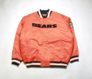 VINTAGE 2008 REEBOK Men's Satin Jacket 5264H-200 CHICAGO BEARS