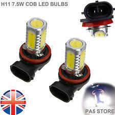 2x H11 COB LED 7.5W Ultra Brillante Blanco 6000K Bombilla Coche Luz de Niebla DRL Luz 12V Reino Unido
