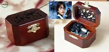 OCTAGON  WOOD CARVING MUSIC BOX  : Hedwig's Theme Soundtrack