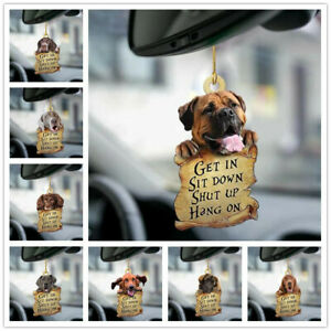 Puppy Get In Dog Lover Two Sided Hanging Ornament