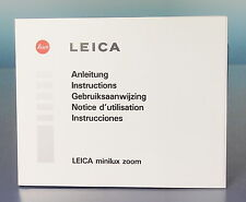 Leica minilux zoom Anleitung manual mode d'emploi - (92725)