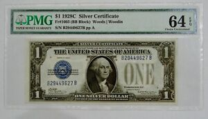 1928 C - $1 Silver Certificate - Fr# 1603 - PMG Choice UNC 64 EPQ