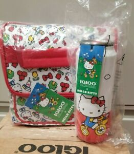 Hello Kitty® Square Lunch Cooler Bag & 16 Oz Stainless Steel Can Tumbler Lot