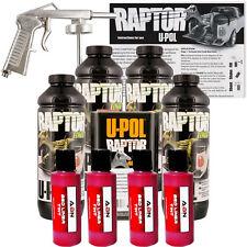 U-POL Raptor Tintable Blood Red Bed Liner w/  Spray Gun, 4 Liters Upol