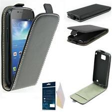 Flex Silikon Flip Tasche Hülle Case Etui für Samsung Galaxy S4 i9505 mit Folie
