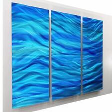 Large Blue Contemporary Abstract Metal Wall Art Sculpture- OOAK 581 by Jon Allen