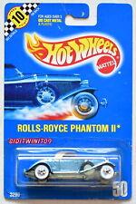 HOT WHEELS 1990 BLUE CARD #50 ROLLS-ROYCE PHANTOM II 05 W+