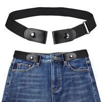 Women Men Elastic Buckle-Free Belt No Buckle Stretch Pants  Waist Belts