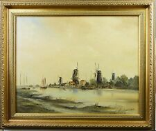Künstlerische Malerei von 1950-1999 mit Landschafts- & Stadt-Motiv