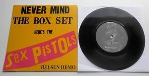 "Sex Pistols - Never Mind The Box Set The Belsen Demo 7"" Fold Over Sleeve"