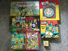 Simpsons Lot: Monopoly & Clue, Trivia (1 & 2), Chess, Duff Wall Clock, Watch