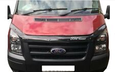 FORD Transit MK7 Bonnet Protector Bug Guard Solid Black2006-2013 WITH Vinly Text