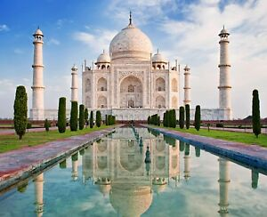 Stunning Taj Mahal - World Wonder India Famous Place Wall Art Canvas Picture
