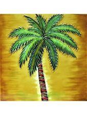 "Palm Trees Art Tile 4""x4"" Decorative Ceramic New SD-188 Orange Background"