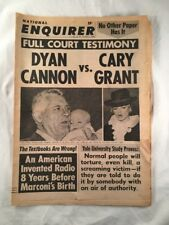 National Enquirer May 5 1968 Cary Grant Dyan Cannon Tabloid Newspaper Vintage