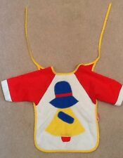 Vintage Sunbonnet Sue Baby Bib Mother Maid Tie Back Primary Colors Terry Cloth