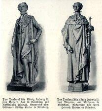 König Ludwig II. von Bayern-Denkmal für München und Bamberg von 1908